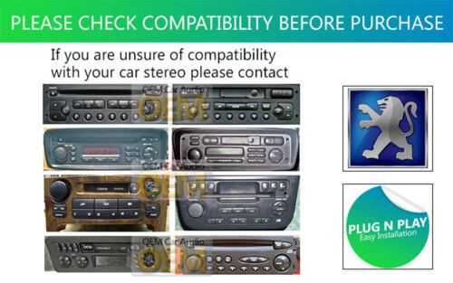 Peugeot 406 Aux En Plomo Auto Estéreo Ipod Iphone Reproductor Adaptador Connection Kit