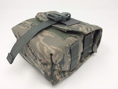 Lot of 2 Military Double Mag Ammo Pouch w// Quick Release Buckle Tiger Stripe NEW