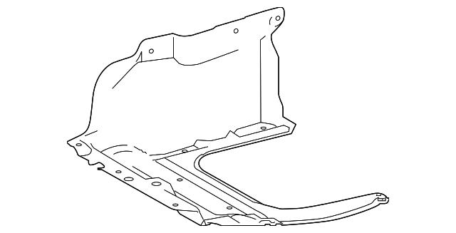 Toyota Oem 14 15 Corolla Splash Shields Under Cover Right 5144102350