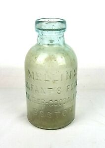 Antique 1800s T. Metcalf & Co. Boston MELLIN'S INFANT'S FOOD Embossed Bottle