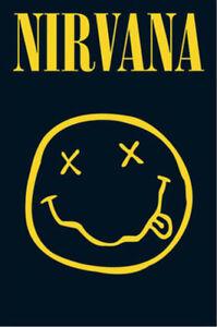 Nirvana Smiley Kurt Cobain Maxi Poster Print 61x915cm  24x36 inches - Sheffield, United Kingdom - Nirvana Smiley Kurt Cobain Maxi Poster Print 61x915cm  24x36 inches - Sheffield, United Kingdom