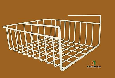 Under Shelf Wire Rack Storage Organizer for Cabinet Spice Jars Kitchen Pantry
