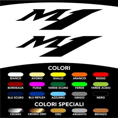 2 Adesivi Stickers Moto Logo M1