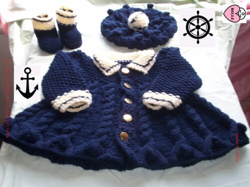 Baby coat knitting pattern+hat,boots,children,girl,chunky wool