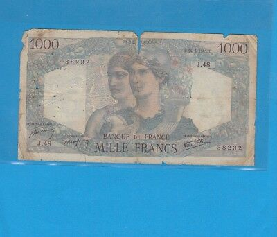 1 000 Francs Minerve Et Hercule Du 14-6-1945 J.48