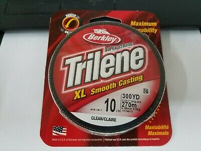 1 Spool Berkley Trilene XL Smooth Casting Clear Mono Line 17 Pound Test 300 Yard