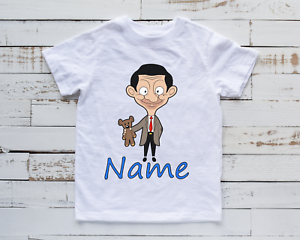 Personalised Mr Bean Inspired Kids T-Shirt Birthday Unisex Funny Top Gift Idea