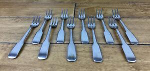 Vintage The Main Course Stainless Japan Lot of 10 Shrimp Pickle Forks