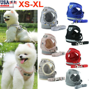 Pet-Small-Dog-Puppy-Harness-Breathable-Mesh-And-Leash-Set-Vest-Chest-Strap-XS-XL