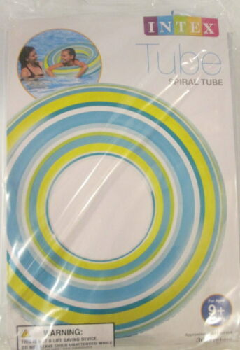 """Intex Spiral Inflatable Tube Swimming Pool Float Raft 36/"""" Blue NEW"""