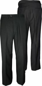 "Waist 30-60"",l29/31 Mens Poly Viscose Flat Front Suit Trousers rico"