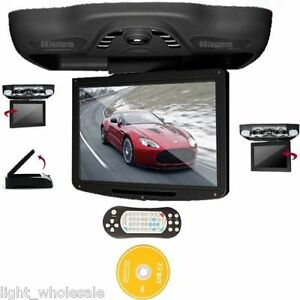 Car-Gray-12-1-HD-Flip-Down-Overhead-Roof-Monitor-DVD-Player-TV-FM-USB-SD-Games
