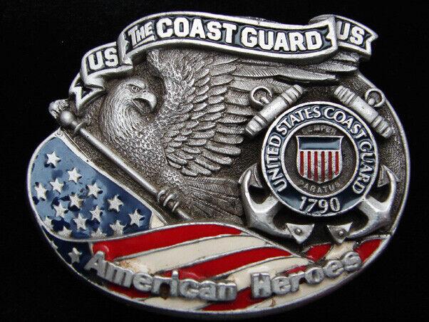 QB03103 Vereinigte Staaten Coast Schutz American Helden Militär Gürtelschnalle