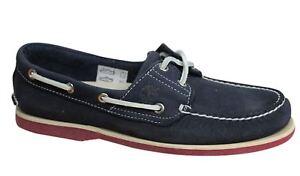 de cuero Eye barco de mujer Lace para Ek 6305a zapatos Up 2 Wh Timberland azul marino qYRwU0