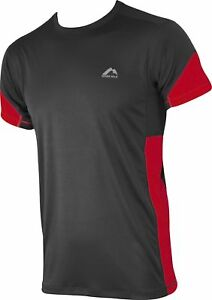 Amical More Mile Aspire Pour Homme à Manches Courtes Running Top-gris-afficher Le Titre D'origine