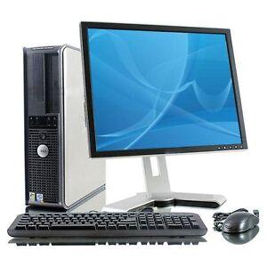 Pc-COMPUTER-FISSO-COMPLETO-USATO-GARANTITO-LCD-19-034-CPU-Core-2-duo-2-GB-160-HDD