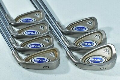 Ping i5 3-9 Iron Set Right Black Dot Regular Flex Steel # 82207  | eBay