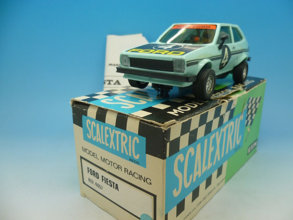 Scalextric 4057 Ford Fiesta, mint appears unused, boxed with instructions