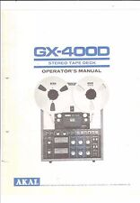Akai  Bedienungsanleitung user manual owners manual  für GX-400 D