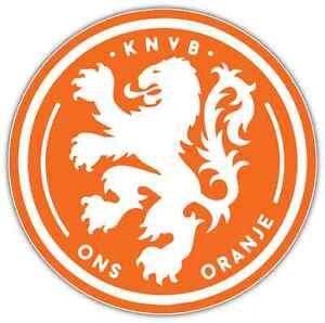 NETHERLANDS KNVB  LOGO FIFA WORLD CUP X LARGE STICKER . 8.25 X 11.75 INCH