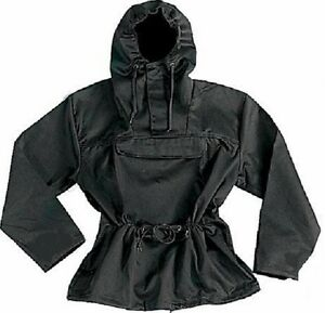 ANORAK PARKA HOODED JACKET BLACK & CAMO All Sizes S,M,L,XL,2X,3X ...