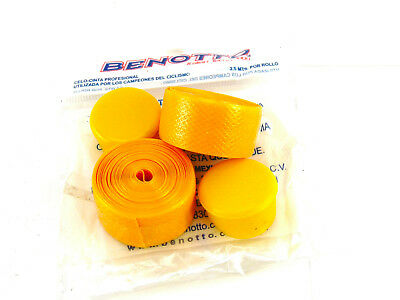 1 BENOTTO TEXTURED Yellow Handlebar Tape Cello Bar pack Vintage Bicycle New