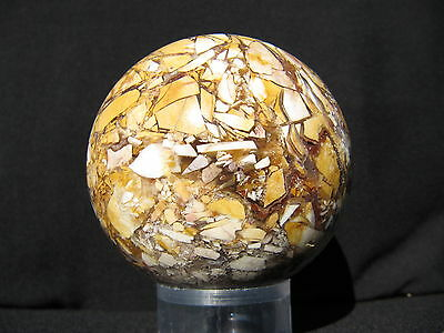 "2.5"" BRECCIATED MOOKAITE SPHERE JASPER BALL AUSTRALIA 63.5 mm"