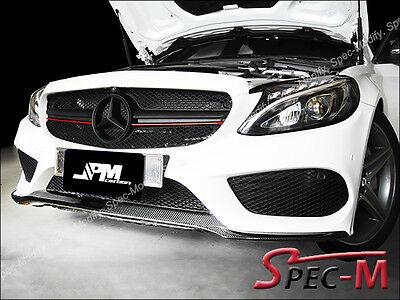 Rear Bumper Splitter Lip Carbon Fiber For 2015 W205 C300 C400 w// AMG Sports CF
