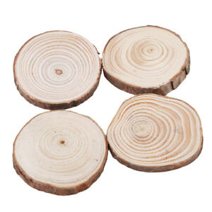 Round-Wood-Log-Slice-Tree-Bark-Table-Decor-Wedding-Centerpiece-DIY-Craft-LD