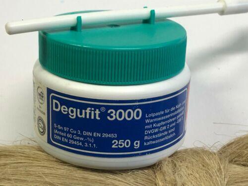 LÖTSET: Degufit 3000 Hanfzopf Hanfrolle 2X Weichlot Torrey Nr.3 Vlies
