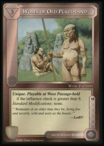 MECCG Middle-earth Woses of Old Pukel-land The Wizards Limited TWL LOTR NM