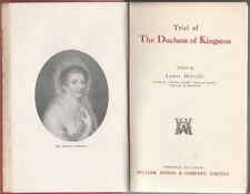 Trial Of The Duchess Of Kingston : Lewis Melville