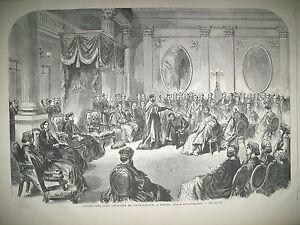 IRLANDE-DUBLIN-INVESTITURE-D-039-UN-CHEVALIER-DE-SAINT-PATRICK-GRAVURES-1866