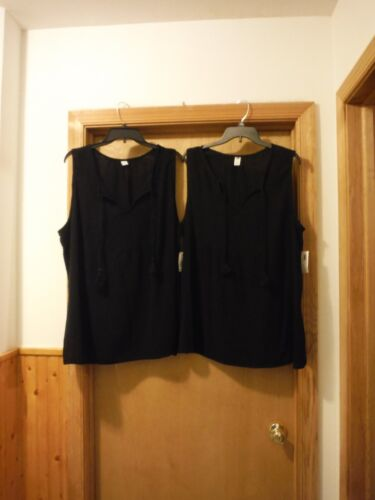 Sleeveless Soft Blouses 2XL,XL,Old Navy color Black 100/% cotton NWT