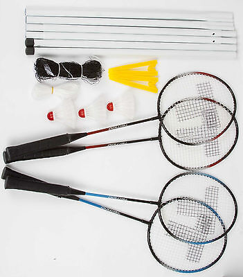 Sporting Goods Honesty Adult Size Badminton Rackets Set With Net Posts & Shuttlecocks Bagminton Racket