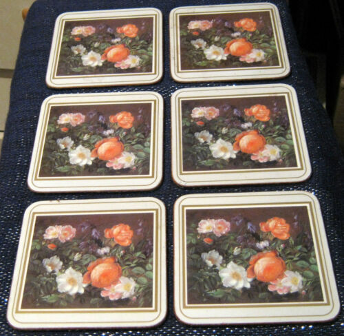 6x lovely coasters with a floral design