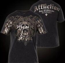 "AFFLICTION Men's SMALL ""Fedor Emelianenko"" NEW FOIL SKULL T shirt NEW S Tee"
