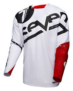 Seven White Red Black Mens Rival Zone Dirt Bike Jersey ATV BMX MTB ... 8dcd904b1