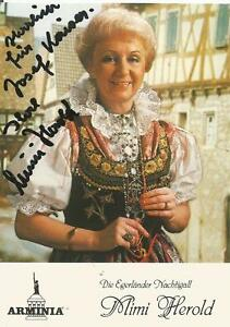 Mimi Herold - Autogrammkarte - Deutschland - Mimi Herold - Autogrammkarte - Deutschland