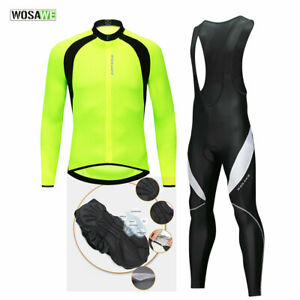 Cycling-Sets-Long-Sleeve-MTB-Road-Bike-Jersey-Bib-Pants-Padded-Sports-Suit-Mens