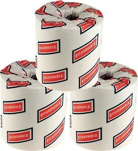 192 rolls bathroom tissue toilet paper white 2 ply two ply Boardwalk 6145 bathroom tissue