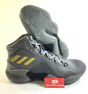 9e5936c09963c NEW! ADIDAS PRO BOUNCE MID 2018 AH2656 - Gray Gold Silver Basketball ...