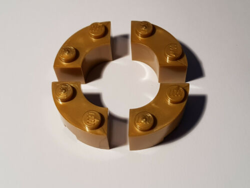 LEGO® 4 x 85080 Basic Viertelkreis Stein 2 x 2 perlgold 6107743 #AC17