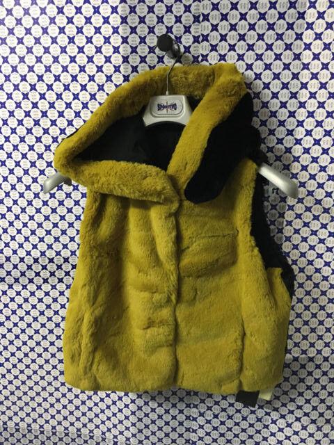 Chaleco Piel Sintética Tavus women - Capucha - - - black yellow - 17111 b73a19