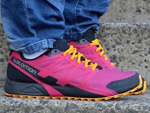 rosa correr Salomon para Cross negro Senderismo Zapato para al mujeres aire Zapatos Zapatos City libre qqOZ4