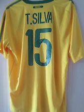 Brazil 2010-2011 Thiago Silva Home Football Shirt Size XL  /35535