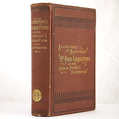 1872 AFRICA EXPLORATION LIVINGSTONE STANLEY SLAVERY MINING CANNIBALS NATIVE HUNT