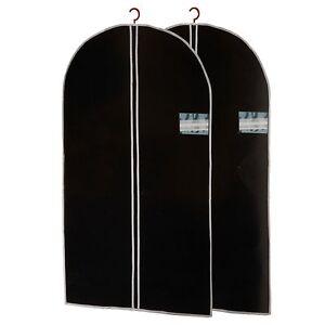 2-PCS-Suit-Garment-Carrier-Breathable-Clothes-Protector-Travel-Storage-Zip-Bag