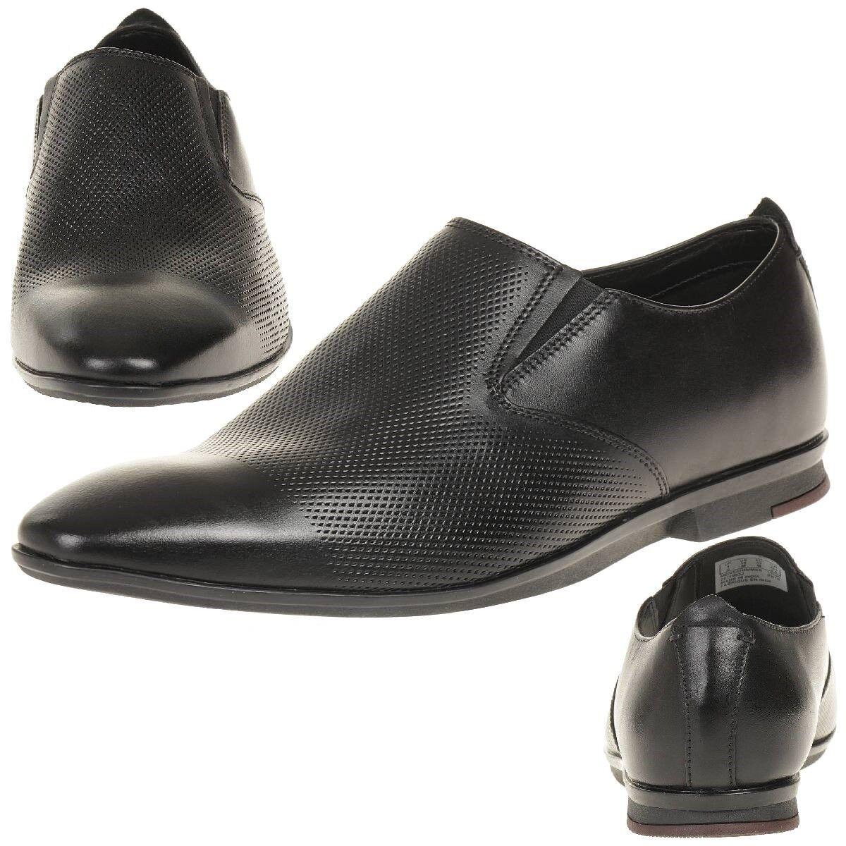 Clarks Zapatos kinver Step Piel Hombres Zapatos Clarks de vestir piel negro 5befa0