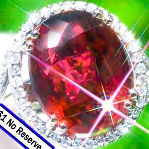 Tourmaline-Ring-14K-GOLD-11-28ct-Diamond-Estate-Classic-Vintage-Rubellite-Ring